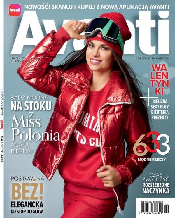 Agata Biernat na okładce magazynu Avanti