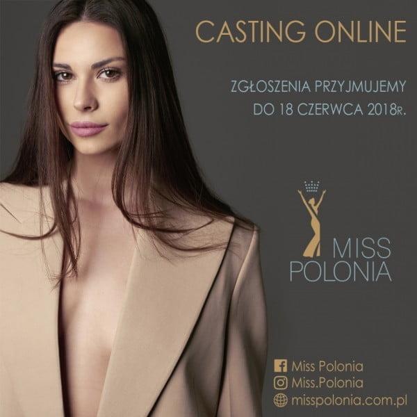 Casting online do konkursu Miss Polonia 2018