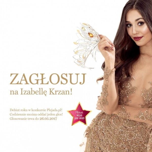 Zagłosuj na Izabellę Krzan w plebiscycie Plejada.pl
