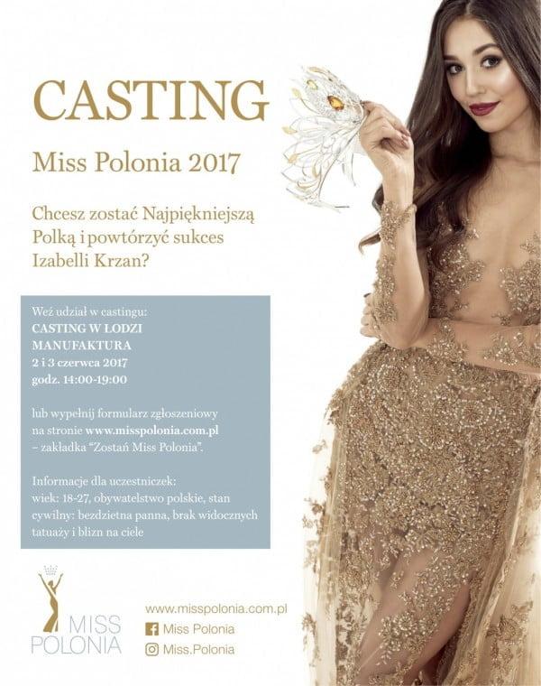 Casting do konkursu Miss Polonia Województwa Łódzkiego 2017