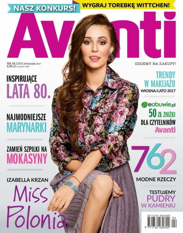 Izabella Krzan na okładce magazynu Avanti