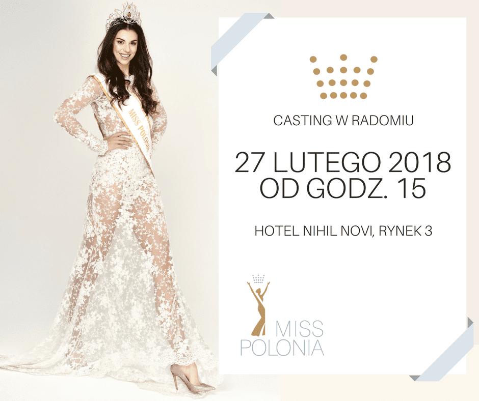 Casting Miss Polonia 2018 w Radomiu
