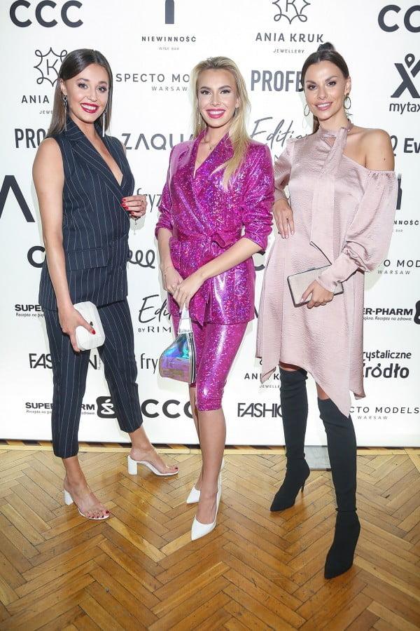Milena Sadowska, Agata Biernat i Izabella Krzan na pokazie kolekcji marki ZAQUAD