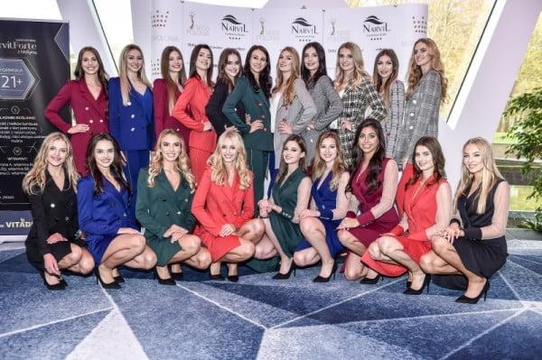 Finalistki Miss Polonia 2018 na konferencji prasowej w Hotelu Narvil