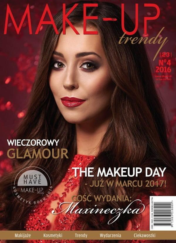 Iza Krzan na okładce magazynu Make-up Trendy