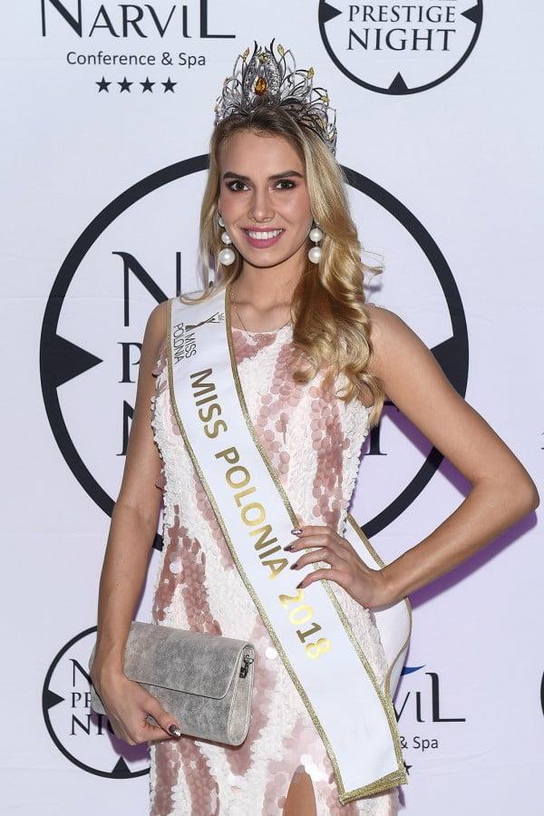 Milena Sadowska, Miss Polonia 2018 na imprezie sylwestrowej w Hotelu Narvil