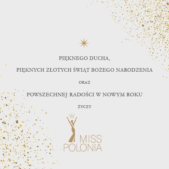 Świąteczne życzenia od zespołu Miss Polonia